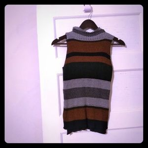 Sanctuary mock turtleneck sleeveless sweater